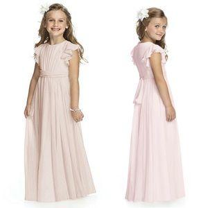Dessy Collection Long Chiffon Flower Girl Dress